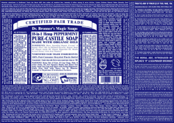 The iconic Dr. Bronner's soap story. We love the purity of Dr. Bronner's soap.