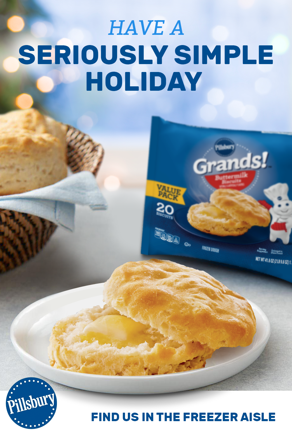 Pillsbury Grands Buttermilk Frozen Biscuits Bake In 22 Minutes Making Your Holiday Meal Prep Incredibly Easy Frozen Biscuits Biscuit Recipe Homemade Recipes