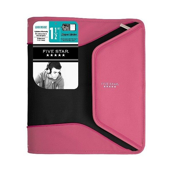 """Mead Five Star . Ring Zipper Binder, .\"""" \"""" ($16) Liked On"""