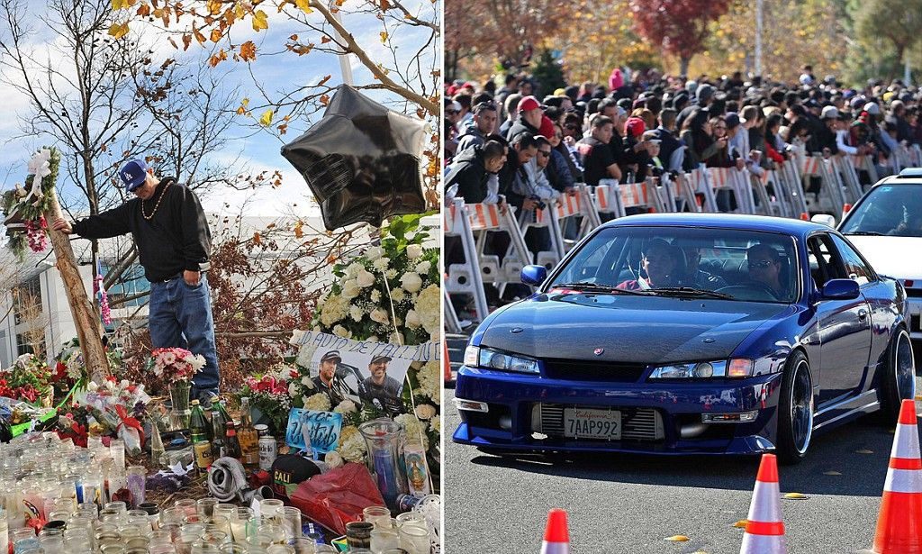 Thousands gather at crash site to farewell Paul Walker