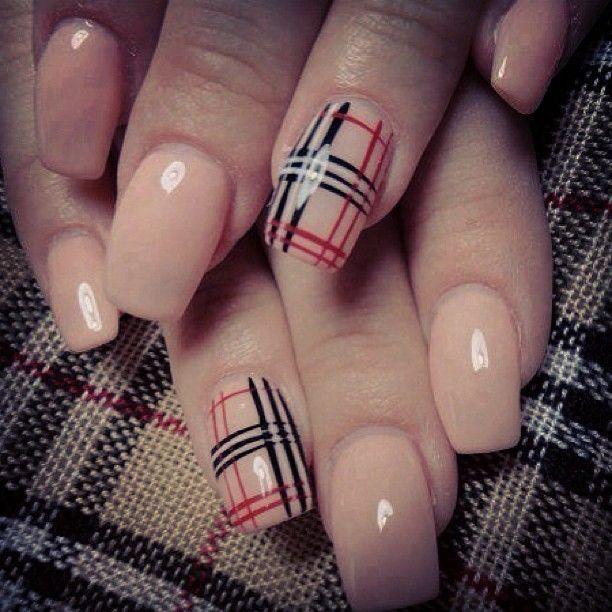 Burberry Plaid Nails Google Search Burberry Nails Plaid Nails Classic Nails
