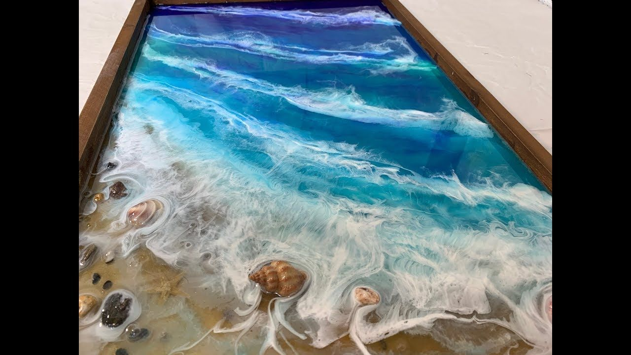 107 Epoxy Resin Art Step By Step Tutorial Ocean