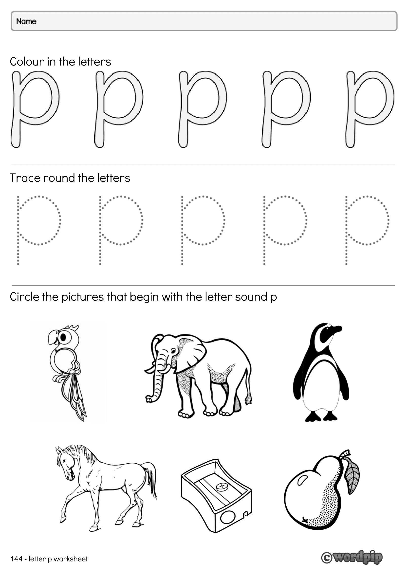 The Letterp Worksheet Designed To Help Get Learners