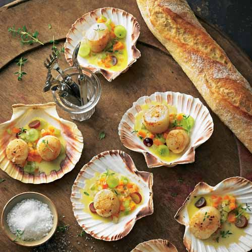 Photo of Scallops with cognac sauce