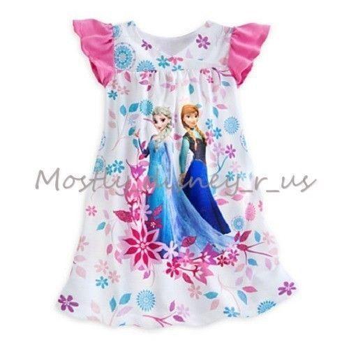 ec2007e10bba9f Disney-Store-Exclusive-Frozen-Elsa-Anna-Princess-Nightshirt-Pajamas ...
