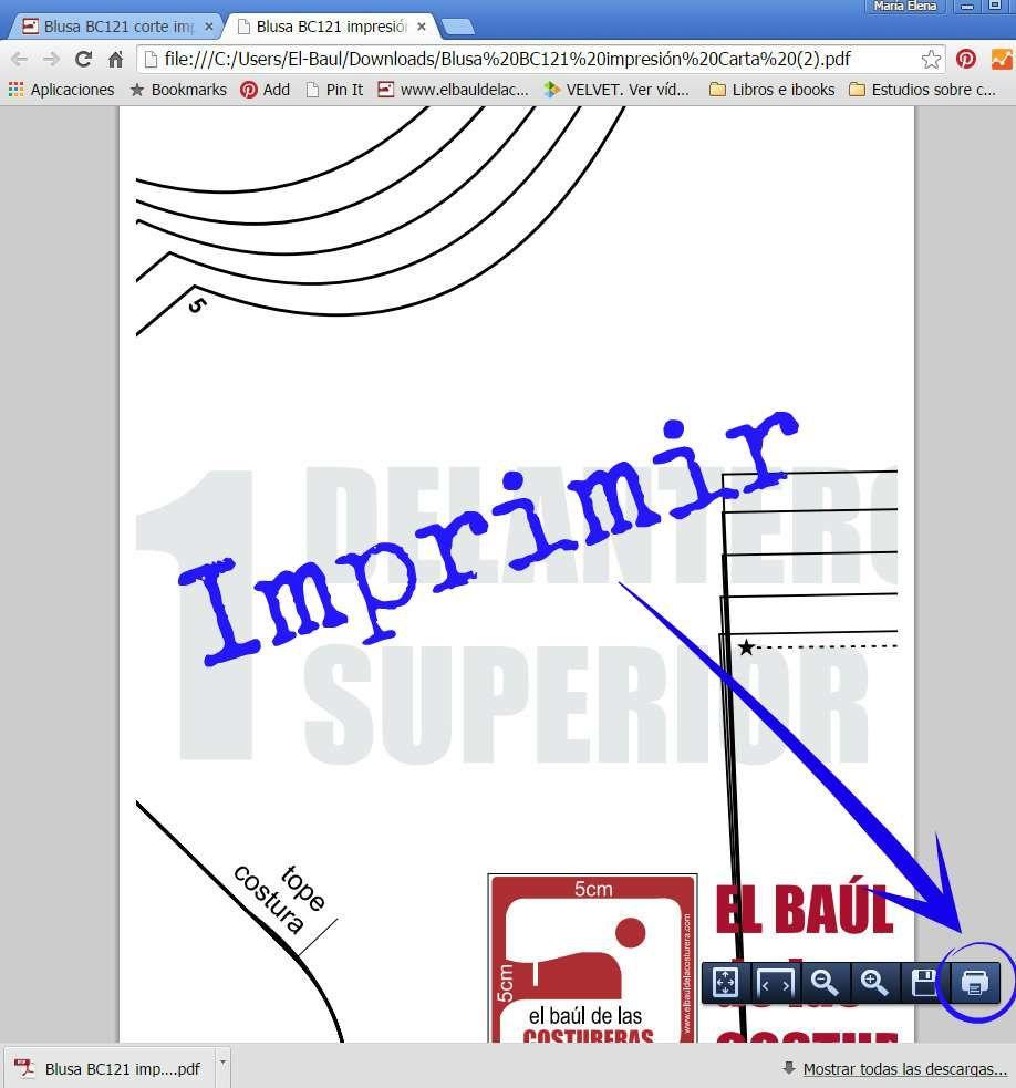 Cómo descargar, imprimir y guardar los patrones de costura | A ...