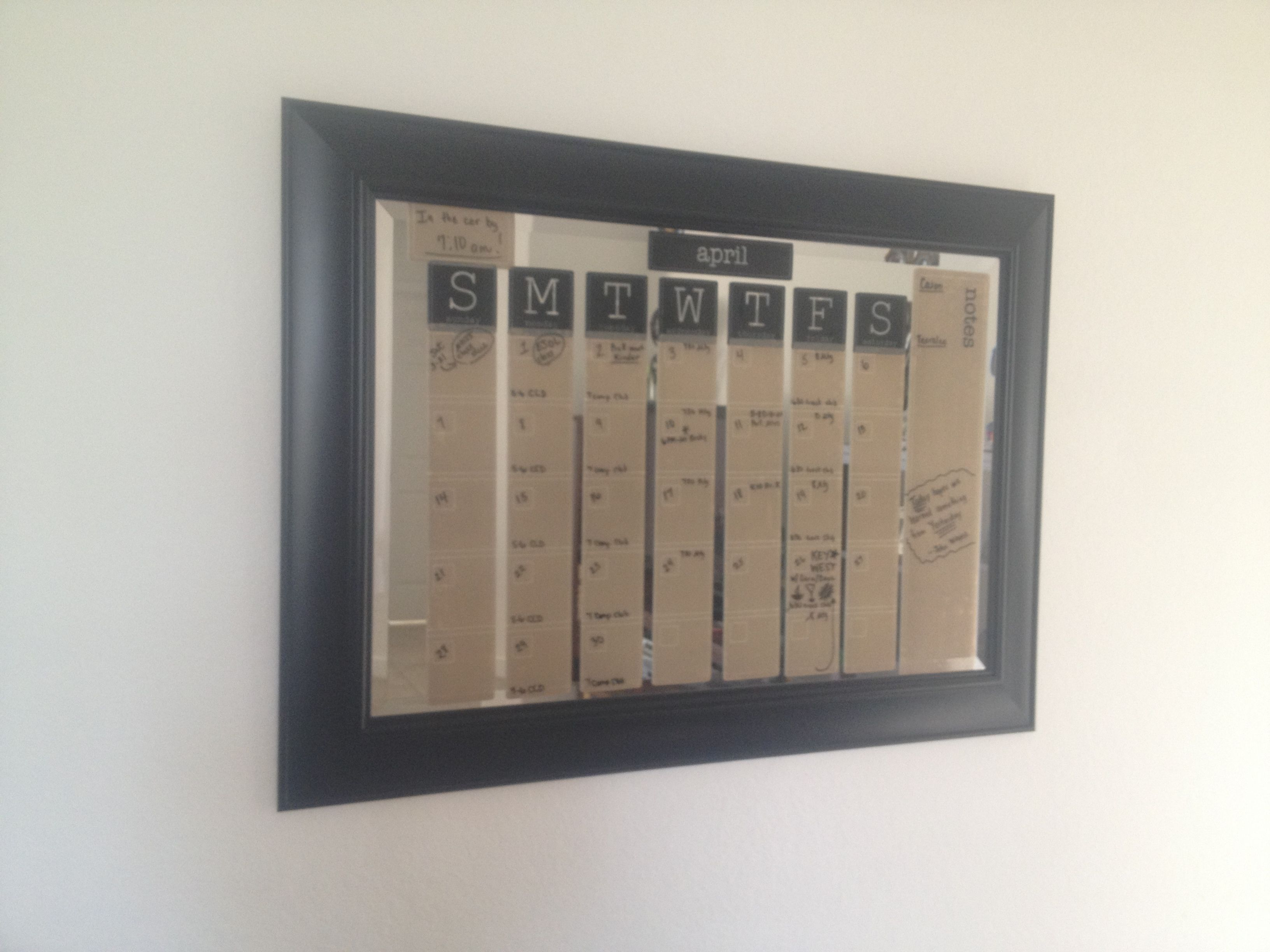 Calendar Planner Target : Old unused mirror dry erase sticky calendar target organization