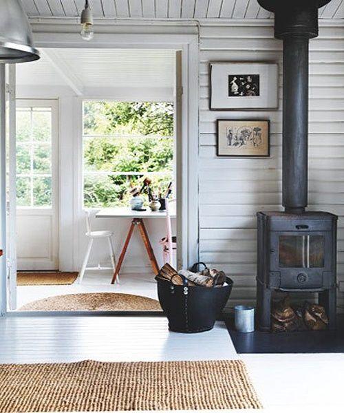 Paredes de madera blanca Casas q me gustan! Pinterest - paredes de madera