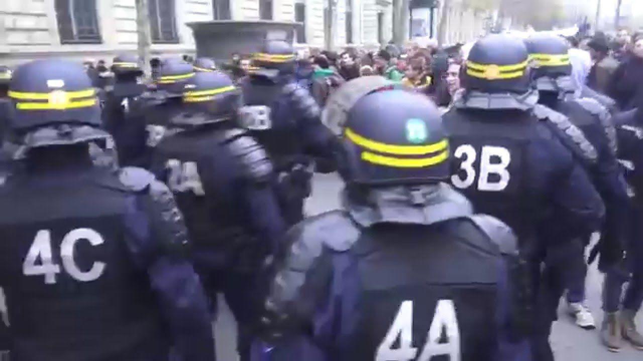 Cop21 - Violência Policial Place de la Républic