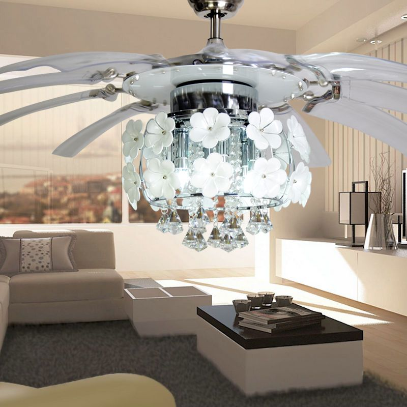 Charmant Modern Led Ceiling Fan With Light Remote Living Room Cafe Pendant Lamp Foyer  Home Decoration Deckenventret