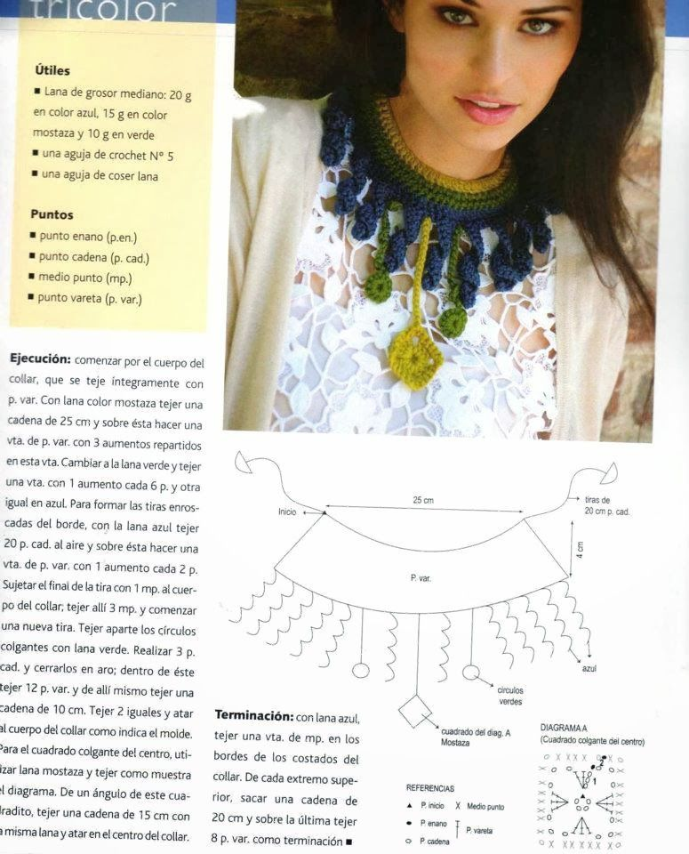 Gargantilla de Crochet Etnica Instrucciones - Patrones Crochet ...
