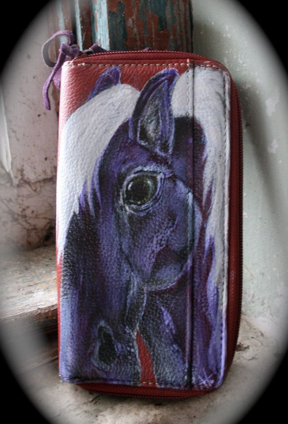 Perfect Cowgirl Gift... Horse Art Wallet Lucky Gal  by LuckyHArt, $67.00