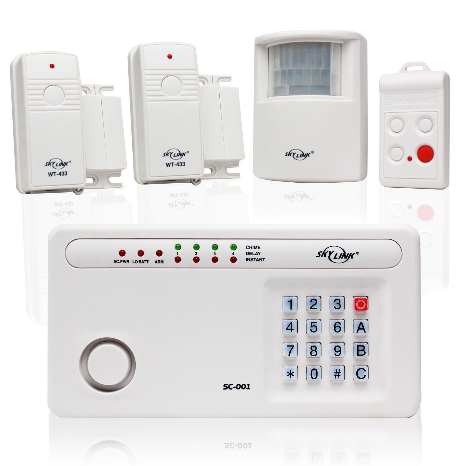 Skylink sc 100w wireless deluxe home and office burglar alarm system skylink sc 100w wireless deluxe home and office burglar alarm system alert security package affordable easy to install diy to view further solutioingenieria Image collections