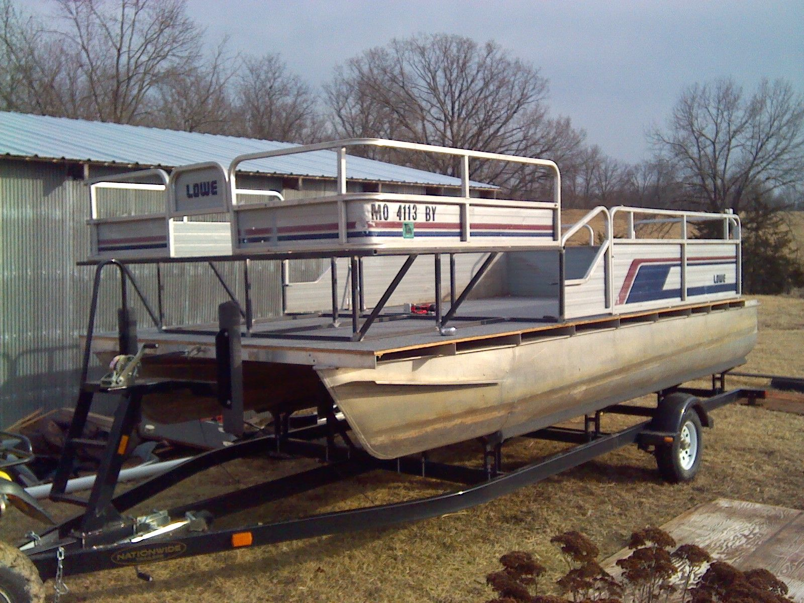 My First Boat and Build 18ft Pontoon | Bowfishing plans | Pinterest ...