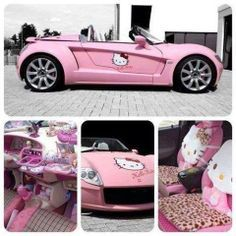 Hello Kitty Car Stuff Images Real Life Hot Pink Fun Motors Sleepover Things