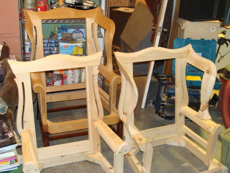 Wing Back Chair Show and Tell Furniture diy, Building
