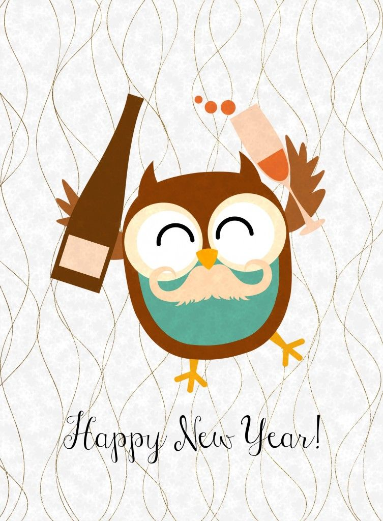free happy new year owl printables 3 more designs to choose from from glued to my crafts
