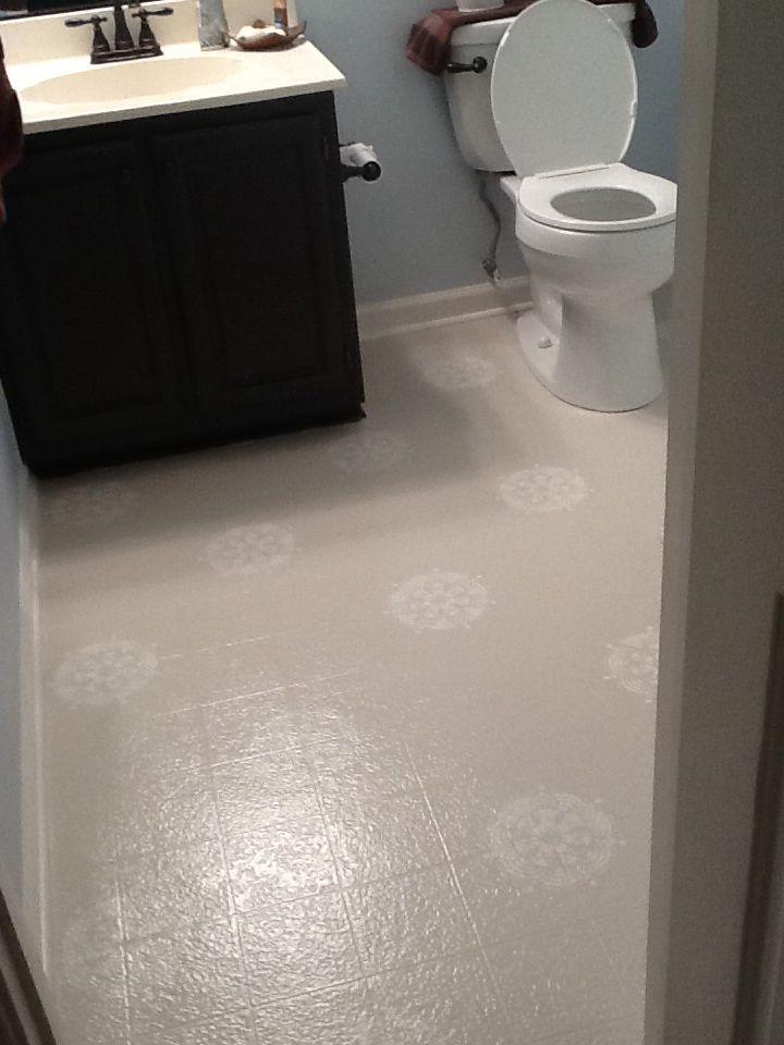 pin on painted linoleum floor