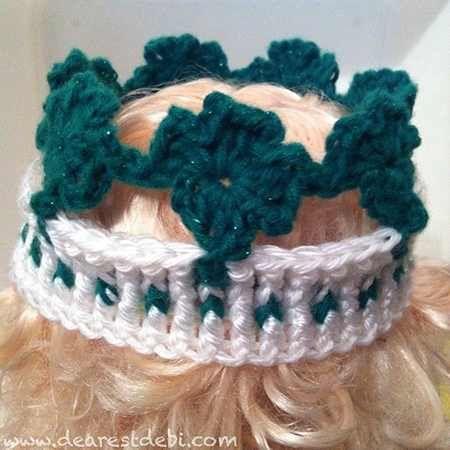 Lucky Shamrock Crown - Dearest Debi Patterns | Crochet shamrocks ...