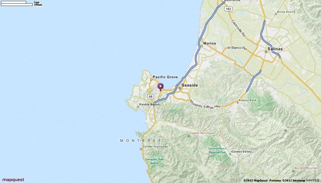Monterey CA Map MapQuest California Pinterest Road Conditions - Mapquest california