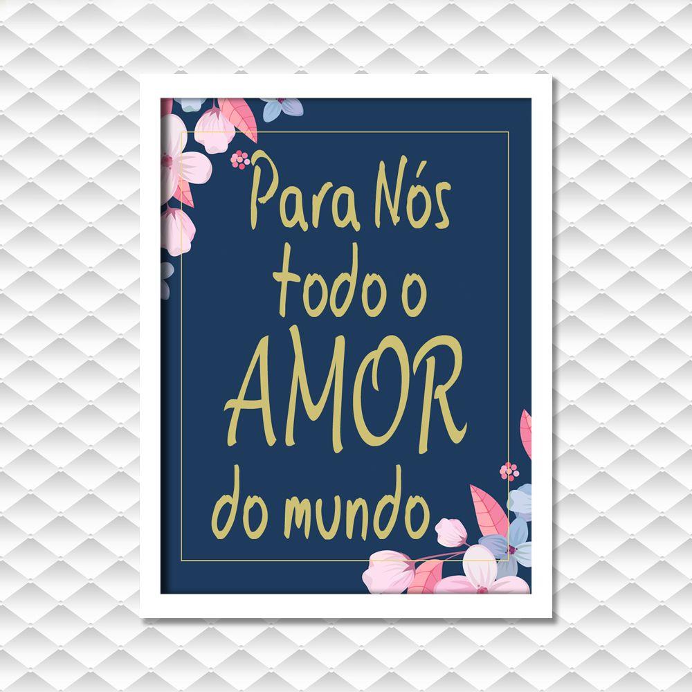 Quadro Frase Amor Para Nos Moldura Vidro T1m1 Pinterest