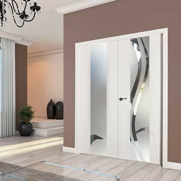 With a wonderful off set glass design the sanrafael lifestyle 992vt sanraphael lifestyle glazed double door model 992vt 991vt white painted planetlyrics Image collections