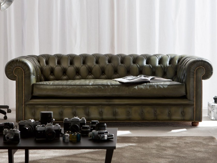 Tufted 3 Seater Leather Sofa Richmond By Berto Chesterfield Sofa 3 Seater Leather Sofa Sofa