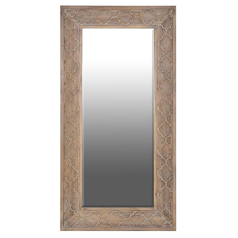 Large Carved Wooden Frame Mirror | Frame mirrors, Wooden frames and ...
