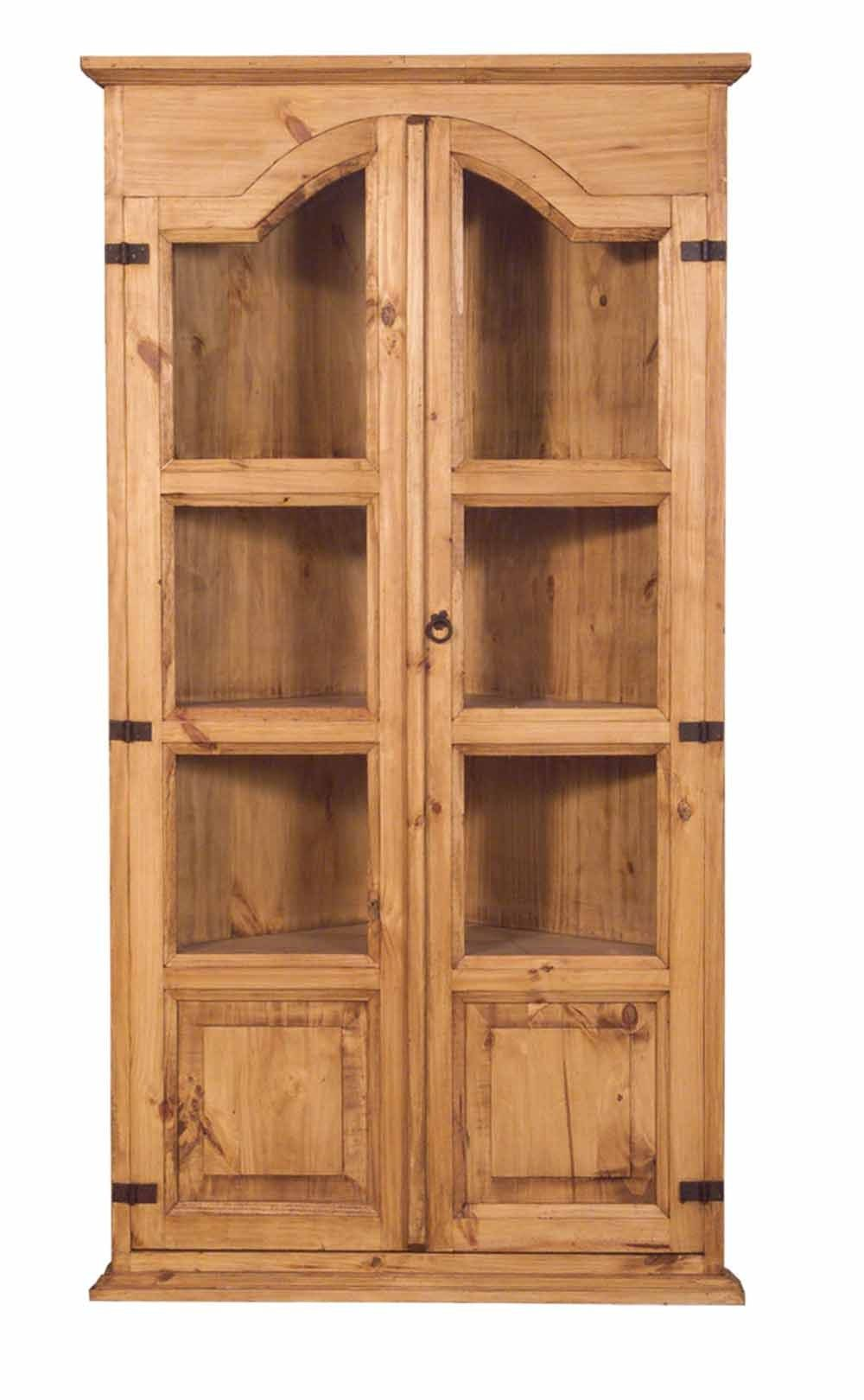 Rustic Pine Corner Cabinet Tres Amigos World Imports