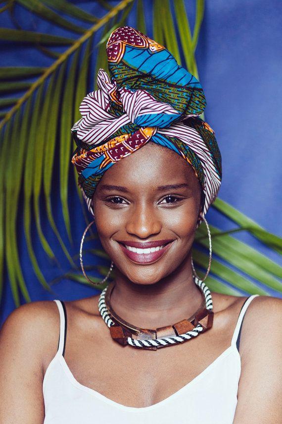 Turban flexible précousu / Foulard cheveux par