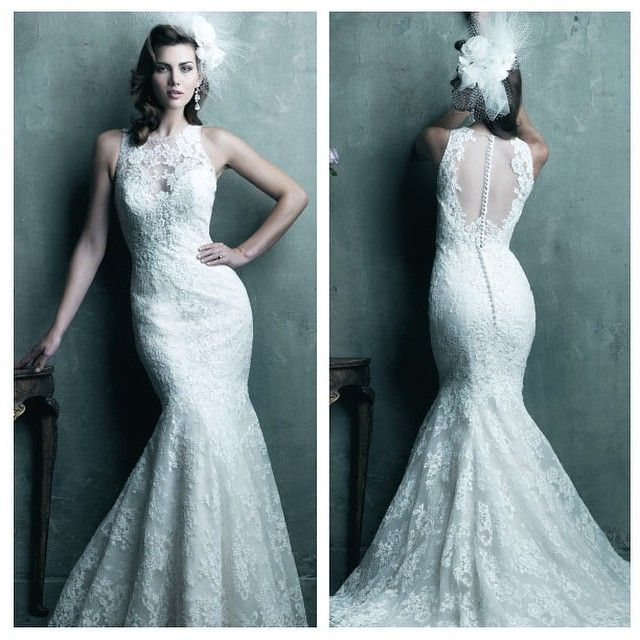 Wedding gown | Bridal dress | Allure Couture | Style C280 | Sheer ...