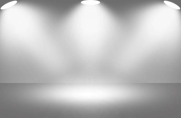 White Light Spotlight Stage Background