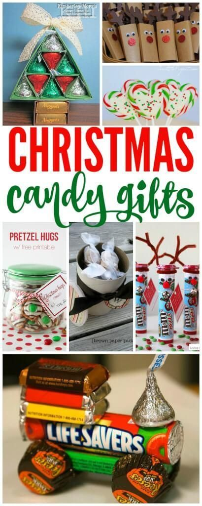Christmas Candy Gifts! Fun Ideas for Christmas using simple items to ...