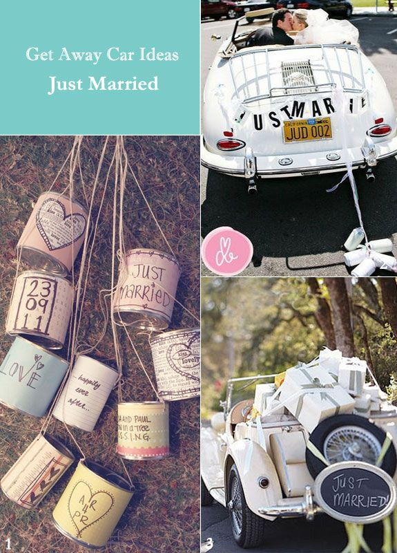 Just Married And Other Unique Wedding Getaway Car Ideas