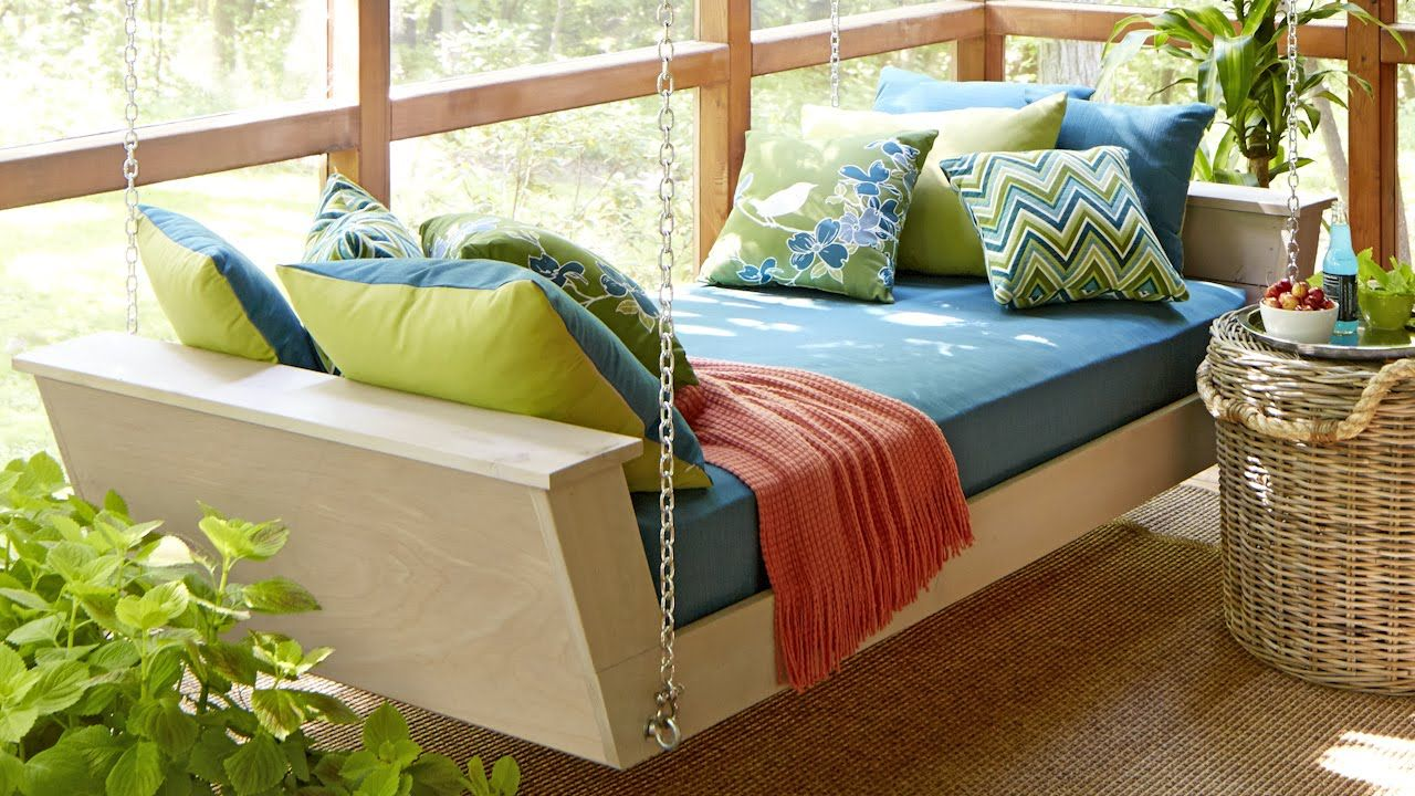 Hanging Daybed Plans YouTube Daybed swing, Hanging