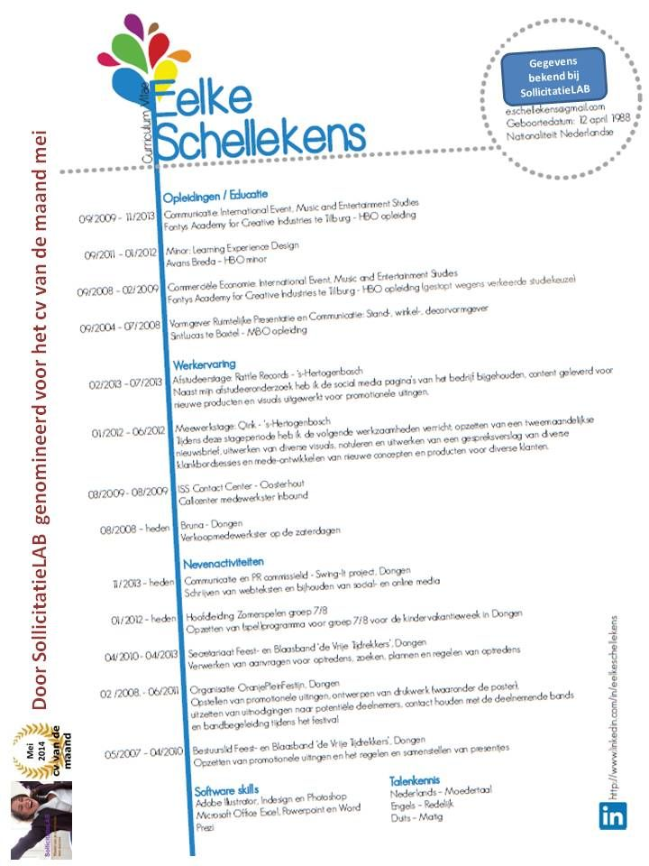 Het cv van Eelke Schellekens   SollicitatieLAB | Inspiratie voor