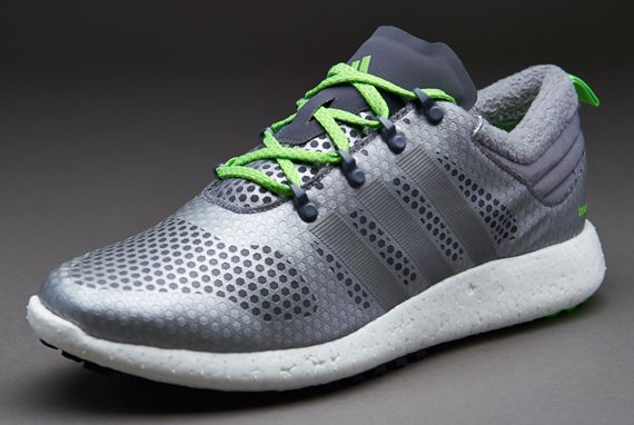 Adidas Neo Running Mens Shoes Fluorescent green Gray