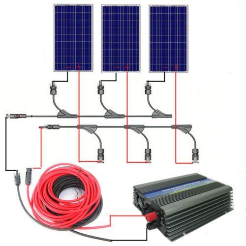 300w Watt 3100 W Solar Panel Grid Tie Complete Kit W 500w 12 120v Inverter Best Solar Panels Solar Panels Solar System Kit