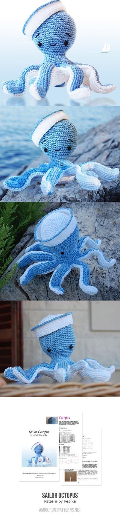 Sailor Octopus amigurumi pattern by Pepika | Patrones, Tejido y ...