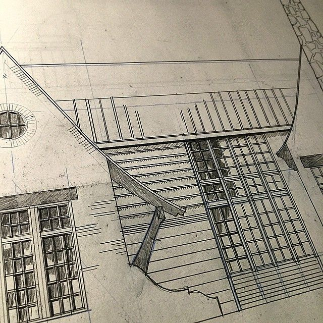 Design in progress for a house in Homewood, AL. #drafting #residentialarchitect.