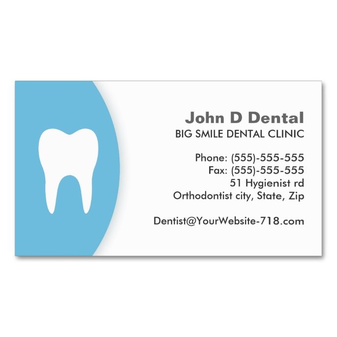 blue and white dental dentist business card dental dentist