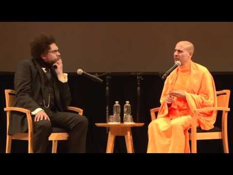 "Princeton scholar Dr. Cornel West and Radhanath Swami, a spiritual teacher, activist and author, in a discussion titled ""East Meets West: A Dialogue Between Cornel West and Radhanath Swami"". Tuesday, April 19, 2011 in Richardson Auditorium in Alexander Hall.  East meets west part 1"