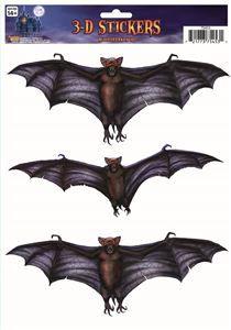 3D Bat Window Stickers - 353016 | trendyhalloween.com #trendyhalloween #halloweendecorations