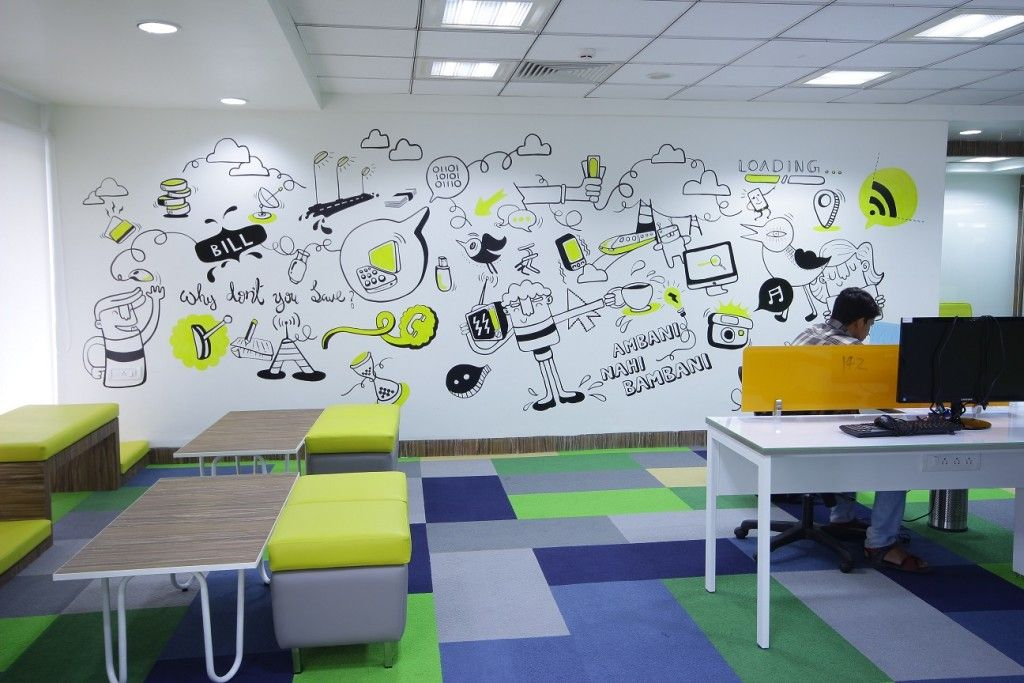 21 Most Beautiful Walls Seen In Offices Around India Dizajn