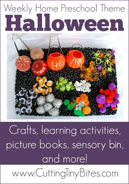 Halloween Theme- Weekly Home Preschool   Easy halloween, Sensory ...