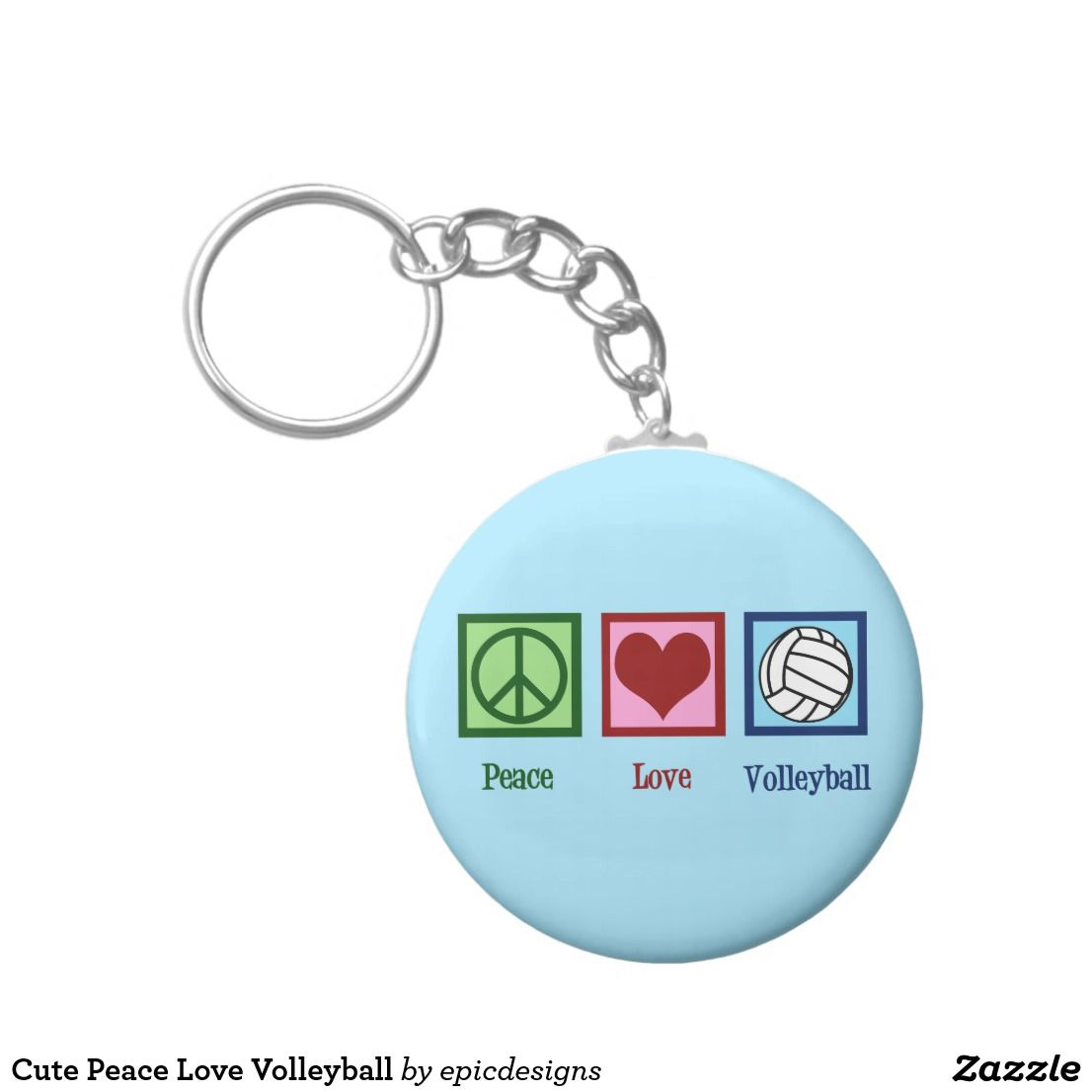 Cute Peace Love Volleyball Keychain Volleyball Volleyballcoach Volleyballplayer Beachvolleygirl Volleyballgirl Peace And Love Keychain Keychain Gift