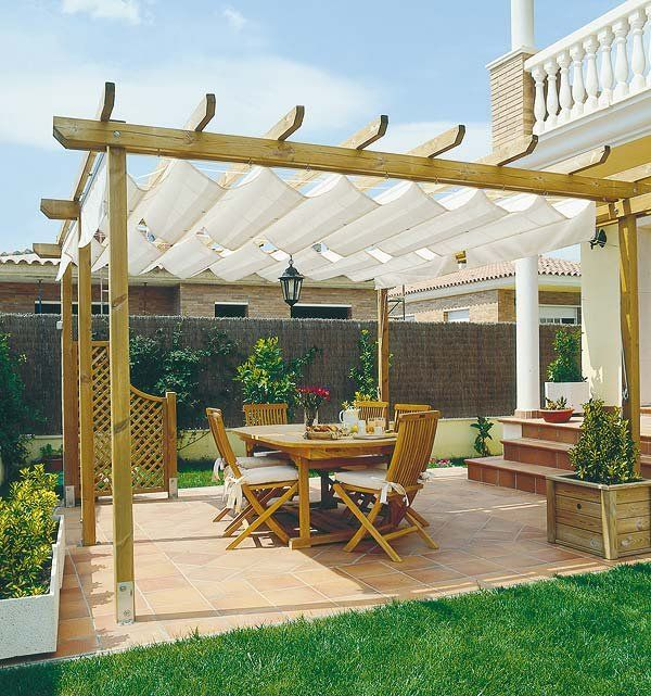 P rgolas y toldos para la terraza o el porche pergolas for Toldos para patios