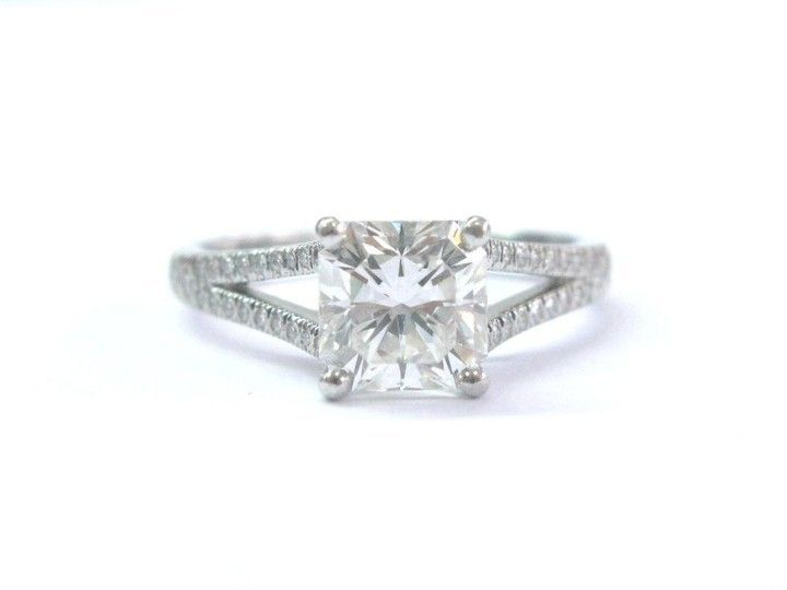 2.56 TCW Cubic Zirconia .925 Silver Triple-Band Halo Ring