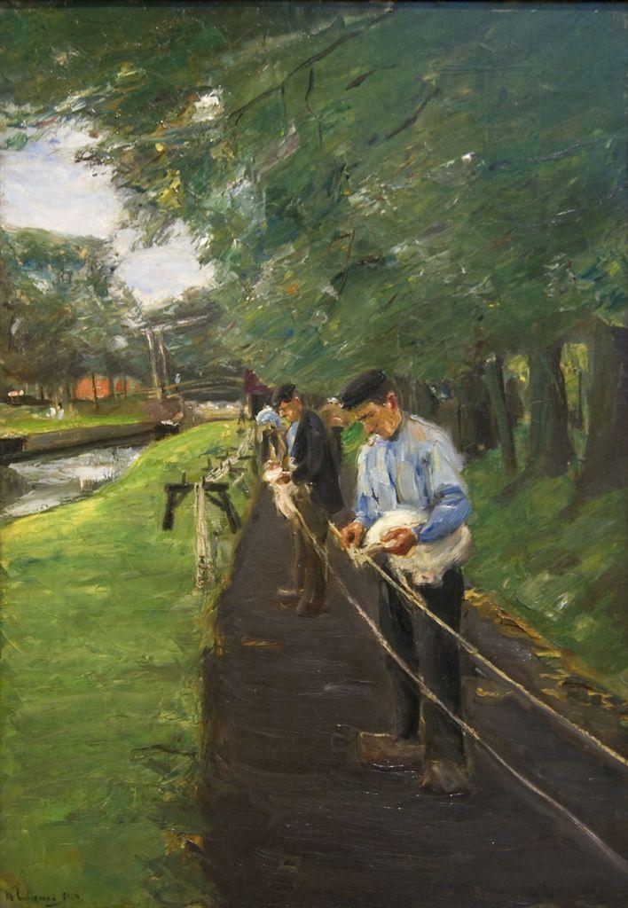 The Ropewalk in Edam, 1904