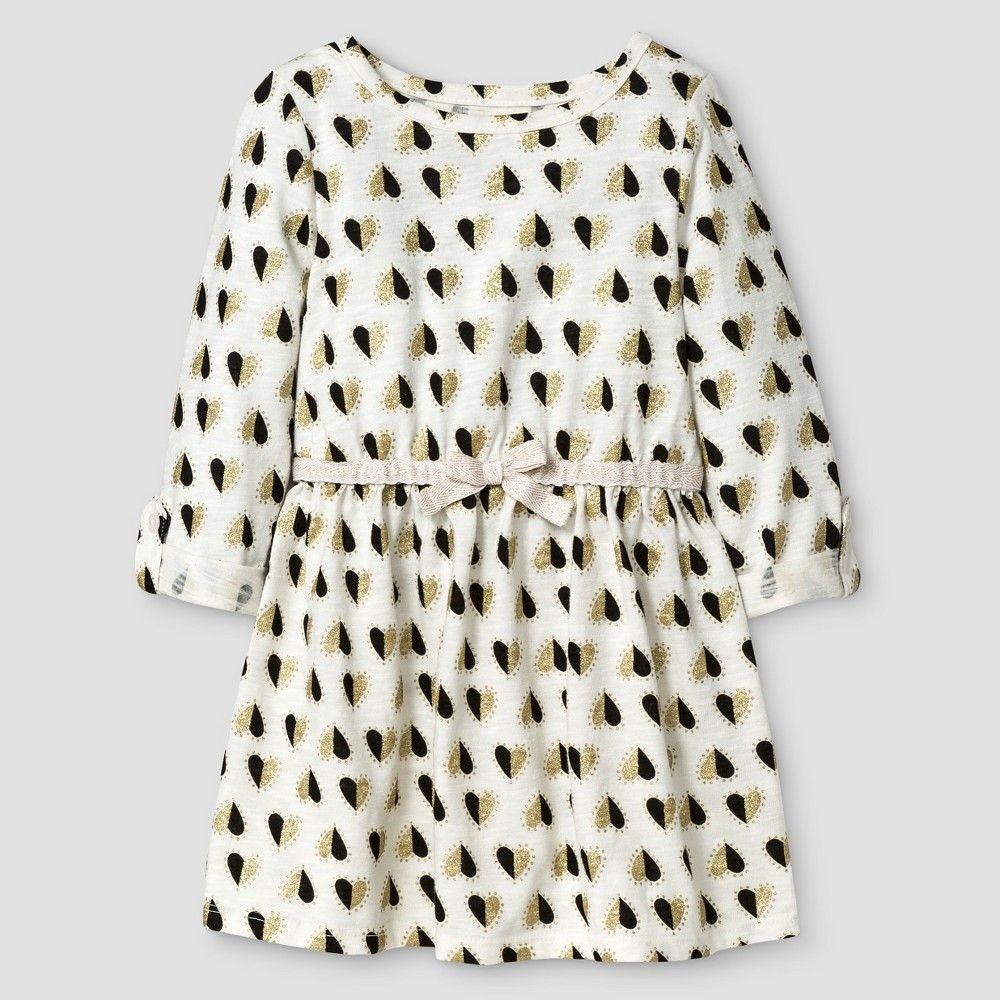 90e9ba183 Baby Girls  Basic Sleeve Dress Almond Cream 18M - Cat   Jack